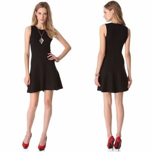 New NWT Black Nikay Fit and Flare Theory Dress L